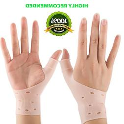 2 Breathable Gel Wrist Brace Silicone Thumb Support Stabiliz