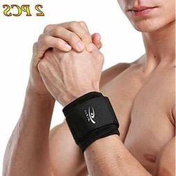 2 PACK Wrist Compression Strap And Brace Sport Support For F