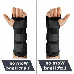 2 Wrist Hand Brace Carpal Tunnel Support Splint Band Night S