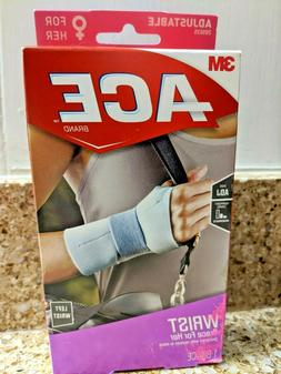 3M ACE Adjustable Size Wrist Brace For Her, Left Wrist, Mode