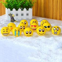 PomPomHome Balls Toy Cute Fun Emoji Face Squeeze Balls Stres