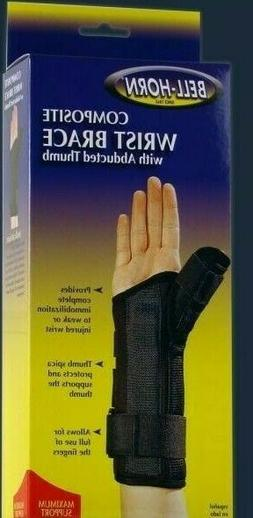 Bell-Horn Composite Wrist Brace with Abducted Thumb * Left *