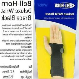 Bell-Horn Deluxe Wrist Brace Black  Left, or Right SIZES AVA
