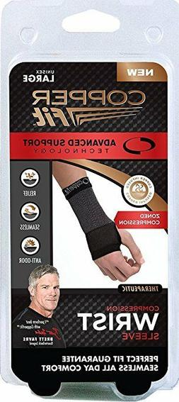 BRAND NEW COPPER FIT ADVANCED SUPPORT WRIST SLEEVE BRACE UNI