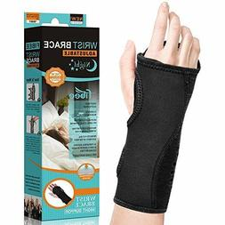 Carpal Tunnel Night Wrist Brace by Fibee for Right or Left H