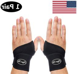 Wrist Brace Support 1 Pair Carpal Tunnel Arthritis Sprain Pa