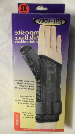 Composite Wrist with Abducted Thumb in Black - Size: Extra L
