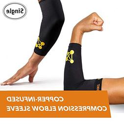 CopperJoint Copper-Infused Compression Elbow Sleeve, High-Pe