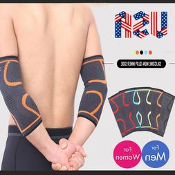 CFR Compression Elbow Support Arm Wrist Brace Arm Sleeves Gy