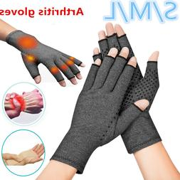 Copper Compression Gloves Medical Arthritis Pain Relief Fit
