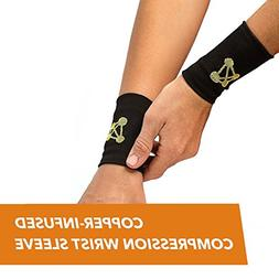 CopperJoint – Copper-Infused Compression Wrist Sleeve, Erg