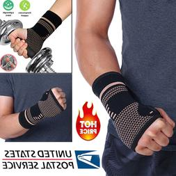 Copper Infused Wrist Support Hand Palm Brace Compression Glo
