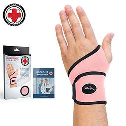 Doctor Developed Premium Ladies Pink Wrist Support/Wrist Str