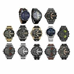 Fashion Men Stainless Steel Analog Quartz Wrist Watch Bracel