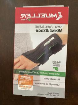 Mueller Green Fitted Carpal Tunnel Wrist Brace, Black, Right