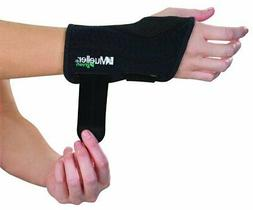 Mueller Fitted Wrist Brace, Black, Right hand, Large/XLarge