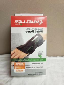 green fitted right wrist brace