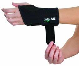 Mueller Green Fitted Wrist Brace, Black, Right Hand, Large/E