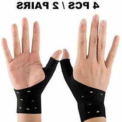 "Hand & Wrist Braces 4 Breathable Gel "" Thumb Support For Rig"