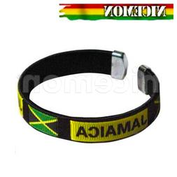 Jamaica National Flag Bracelet Wrist Threaded Bracelet Cuff