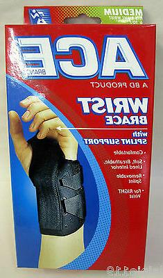 Ace 207264 WRIST BRACE with Splint Support, RIGHT, MEDIUM 6-