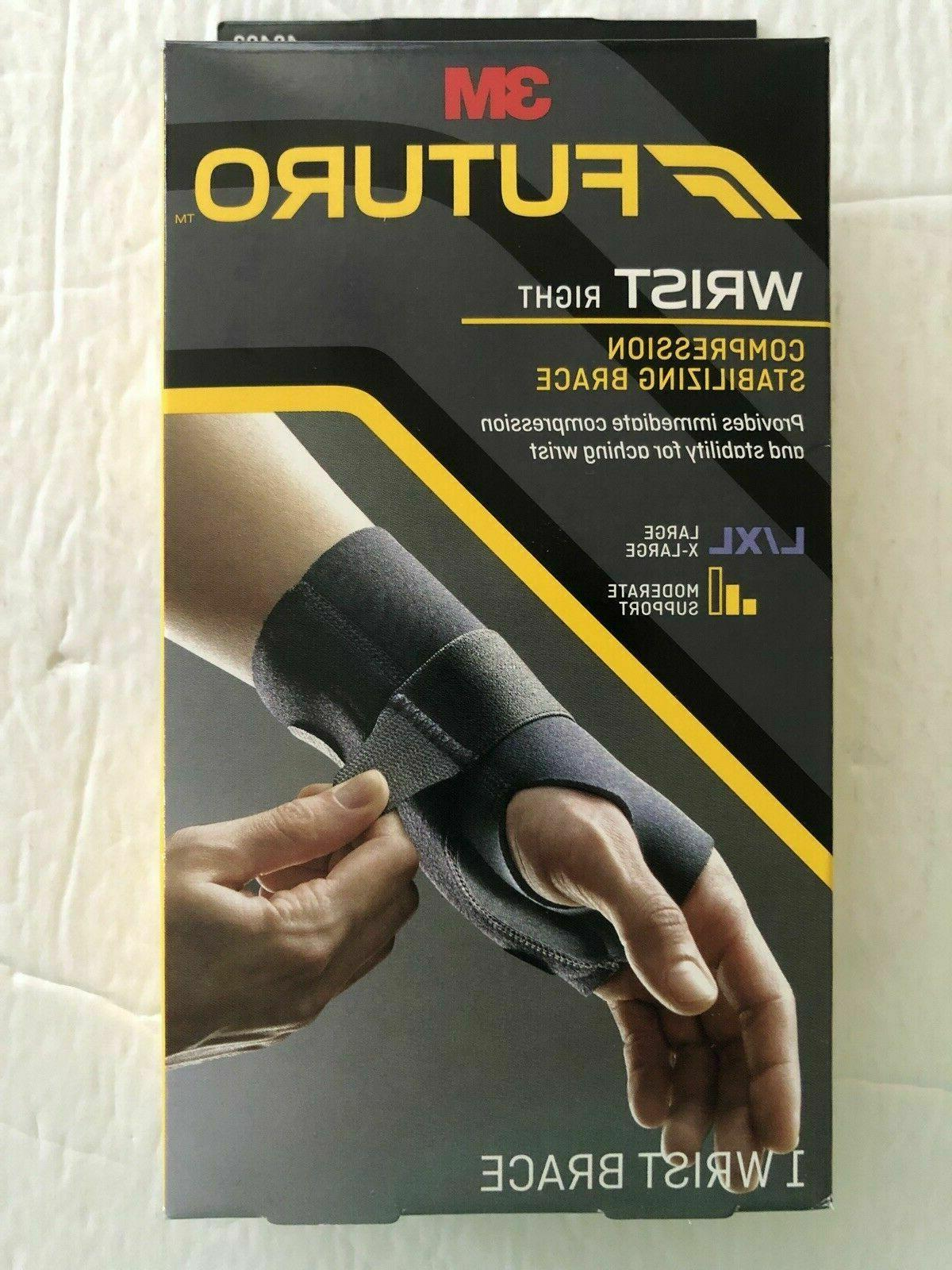3m wrist right compression stabilizing brace large