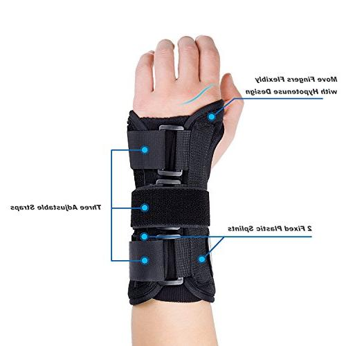 Featol Adjustable Brace with Splints Carpal Tunnel, Injuries,Wrist Pain, Sprain