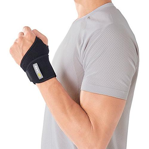 Bracoo Wrist Wrap, Reversible Compression Support for Sprains, Carpal Syndrome, Wrist Tendonitis Pain Injury 1