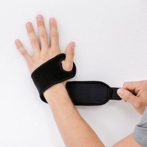 Bracoo Compression for Carpal Tendonitis Injury Recovery, WS10, Black, 1