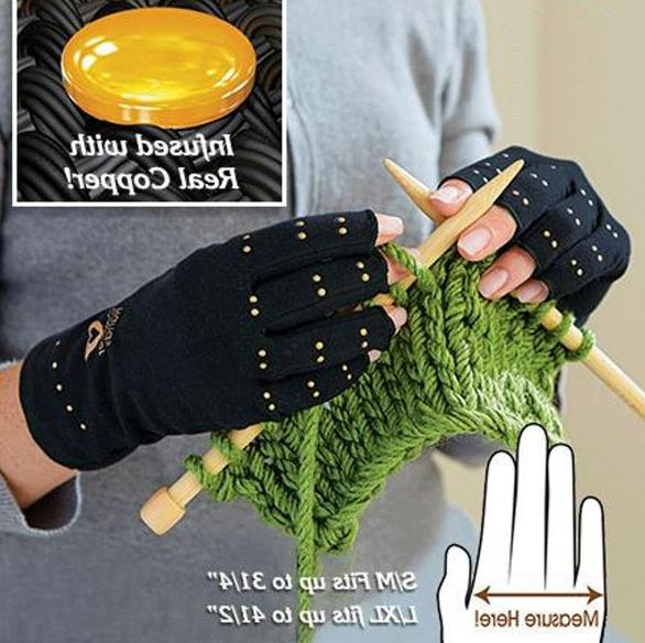 Arthritis Gloves Fingerless Hands Compression Medical Therapeutic