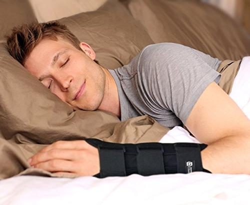 Copper Compression Tunnel Night Brace - GUARANTEED Highest Content Wrist Comfortable and Hands Adjustable Support Splint.