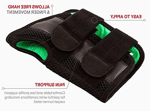 Body Glove Brace - Tunnel Breathable, Comfortable Wrist Offers Tenosynovitis, Post-Surgery, Pain Relief