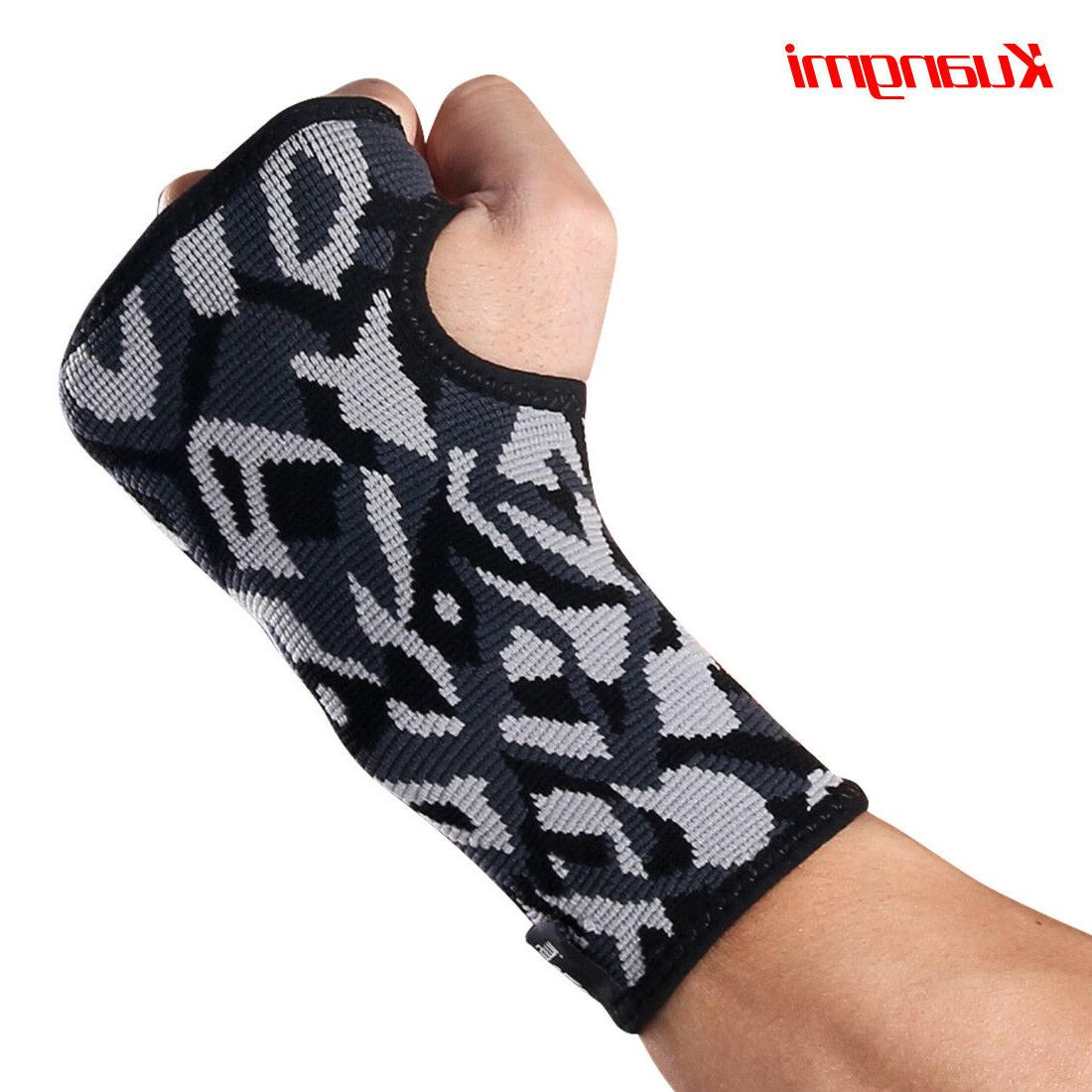 Kuangmi Compression Wrist Support Brace for Carpal Tunnel, A