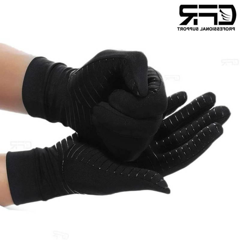 Copper Compression Gloves Rheumatoid Joint Relief Hand