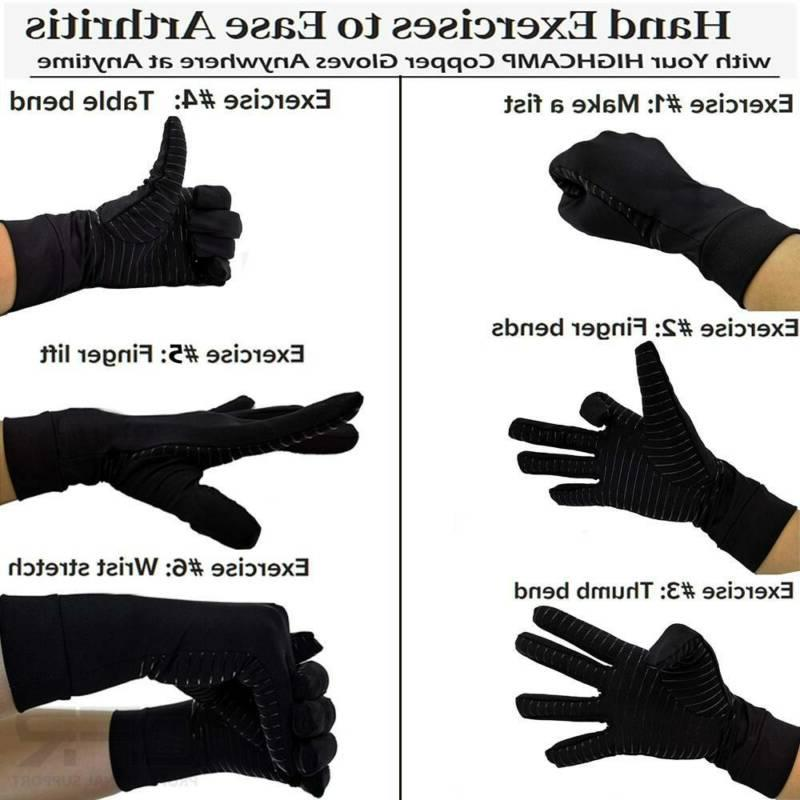 Copper Infused Compression Gloves Pain Relief