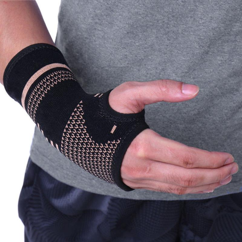 Copper Support Gloves Splint RSI Sprain Pain US