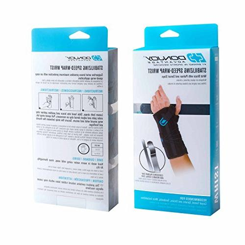DonJoy Advantage DA161WB02-BLK-L Stabilizing Speed-Wrap Carpal Tunnel, Tendonitis, Instabilities,