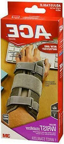 ACE Deluxe RIGHT WRIST Stabilizer, Adjustable, Carpal Tunnel