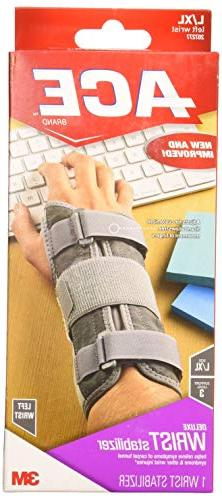 ACE Deluxe Wrist Stabilizer, Large/Extra Large, Left Hand