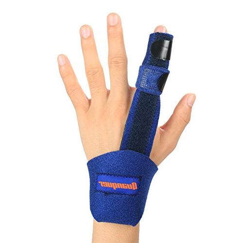 Finger Trigger Finger, Mallet Finger Knuckle Fractures, Wounds, and Relief- Malleable Metallic Hand Support