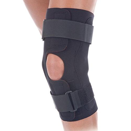 fit wraparound hinged knee brace comfort wrap