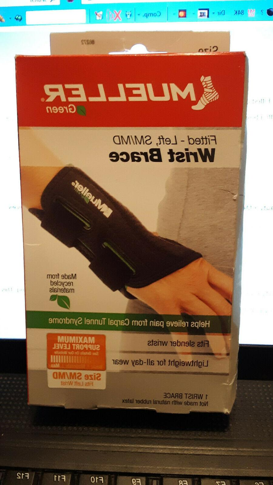 fitted carpal tunnel wrist brace black left