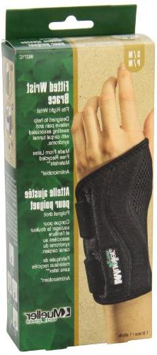 Mueller Green Fitted Brace, Black, Right Small/Medium