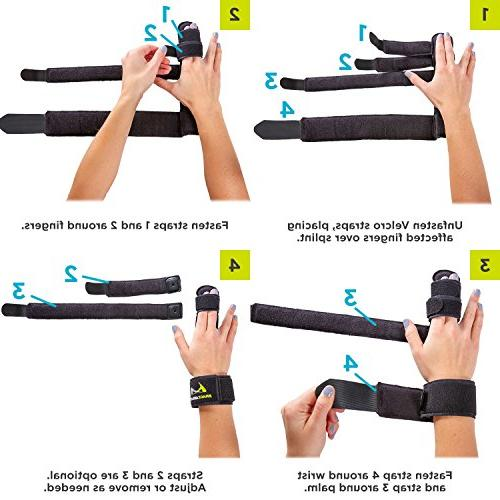 BraceAbility Hand Finger Splint for Joints, Finger Sprains and to Straighten Middle, Index Pinky Knuckles