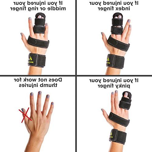 BraceAbility & Two Finger Immobilizer | Splint Cast Joints, Sprains Straighten Middle, Index Pinky
