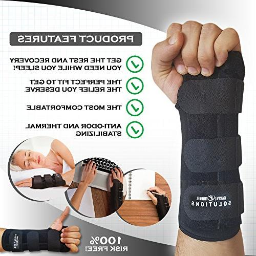Carpal Tunnel Night Time Hand Carpal Solutions- RELIEF Cubital Wrist Recovery