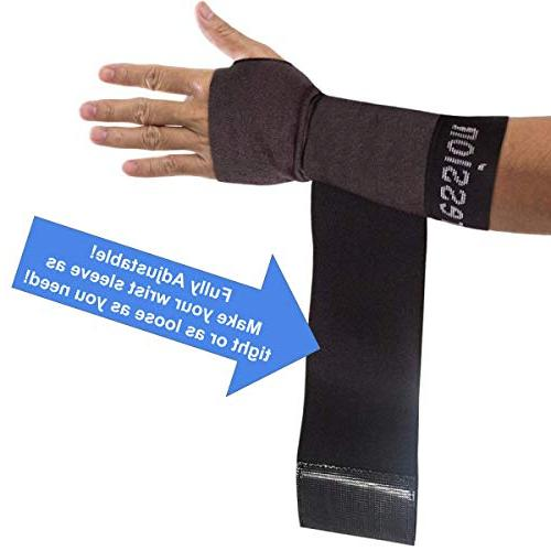 Copper Compression Sleeve with Adjustable Wrap for Extra Carpal Tunnel, Workout