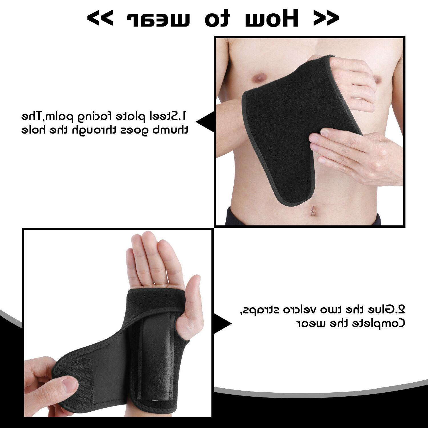 Right Left Brace Support Carpal Tunnel