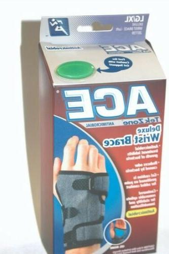 Ace TekZone Deluxe Wrist Brace-Antimicrobial LG/XL - Left Ha