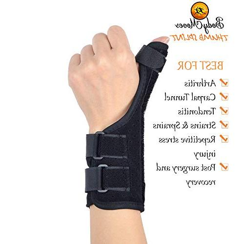 BodyMoves Brace and Cold Gel for quervain's Tendonitis, Trigger Thumb spica,Carpal Tunnel, Reversible